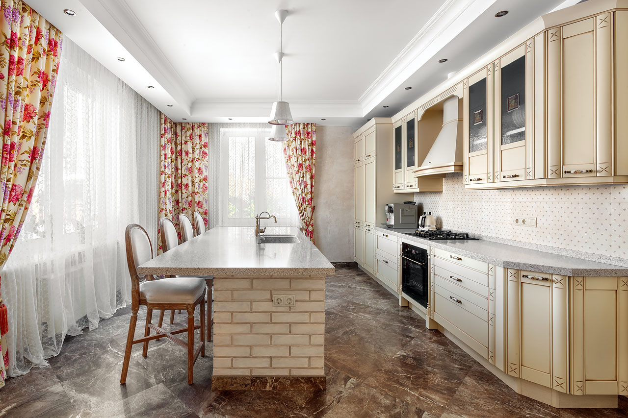 Кухонный интерьер фотографии